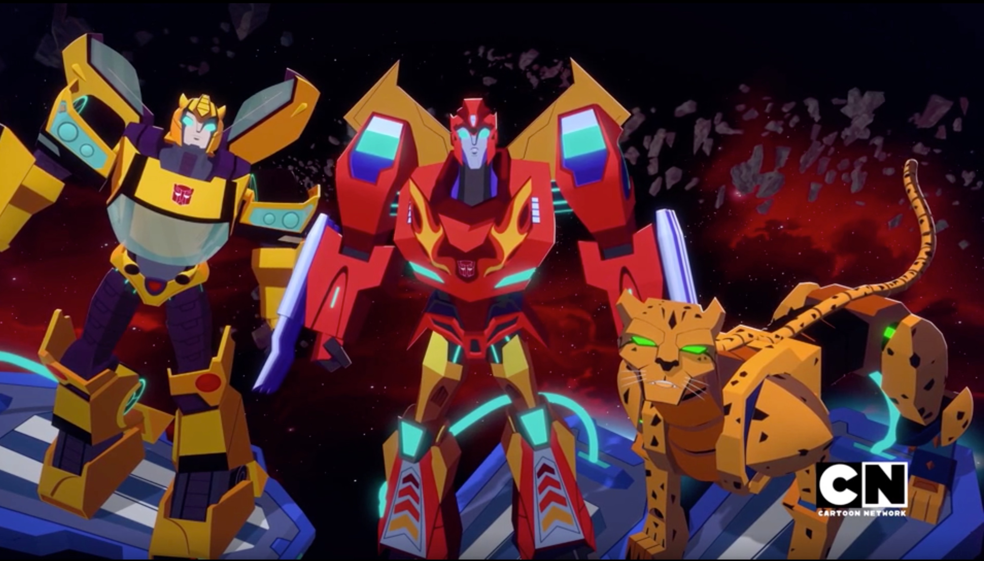 Transformers Cyberverse Bumblebee, Hot Rod and Cheetor