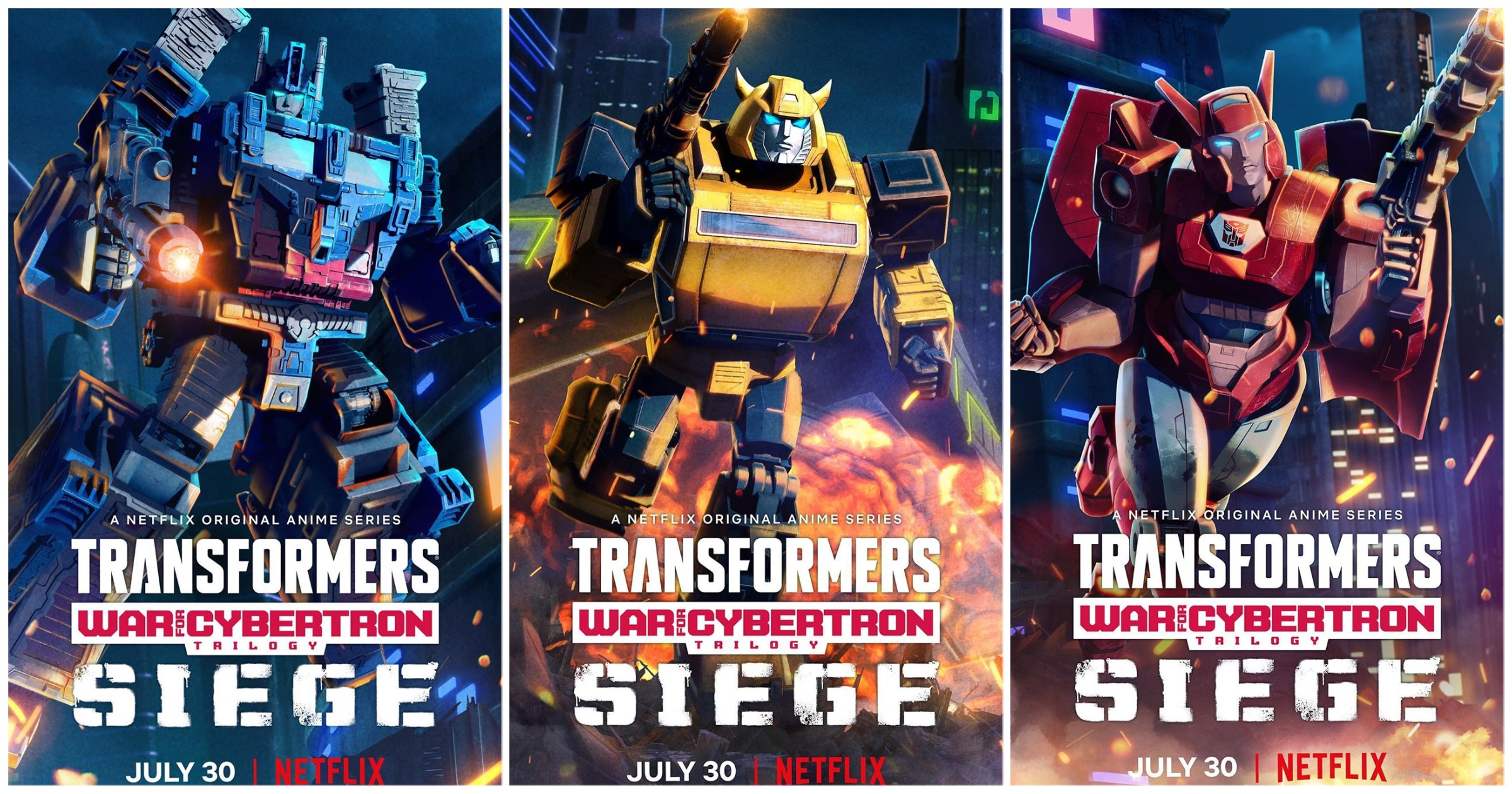 New Netflix's War For Cybertron Promotional Posters - Transformers ...