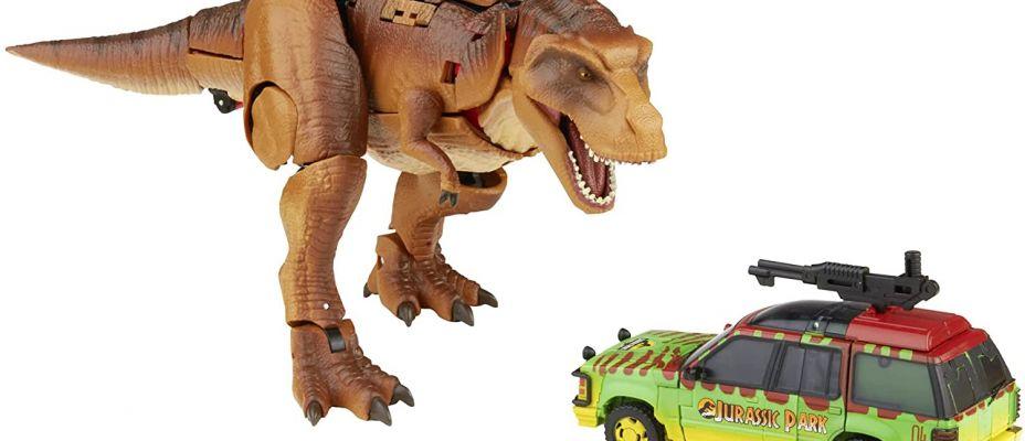 Jurassic Park x Transformers Collaborative Tyrannocon Rex vs JP93 Revealed!